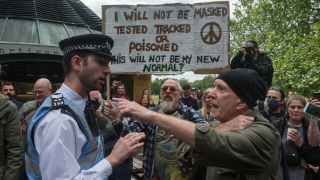 Protest Marea Britanie