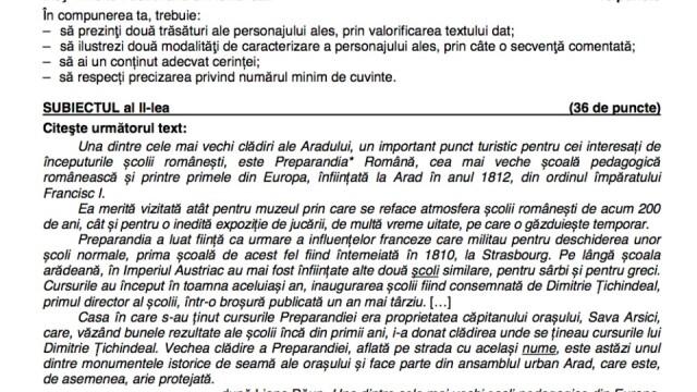 Evaluarea Națională 2020. Ce subiecte au picat la limba română în 2019 - Imaginea 2