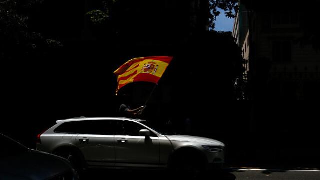 Mii de spanioli au participat la un protest auto. Ce îi reproșează premierului. GALERIE FOTO - Imaginea 12