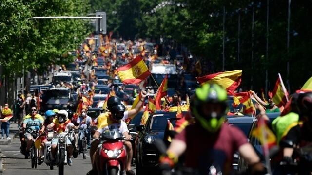 Mii de spanioli au participat la un protest auto. Ce îi reproșează premierului. GALERIE FOTO - Imaginea 1