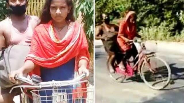 La doar 15 ani, o tânără și-a salvat tatăl rănit, după ce l-a cărat 1.200 de km cu bicicleta