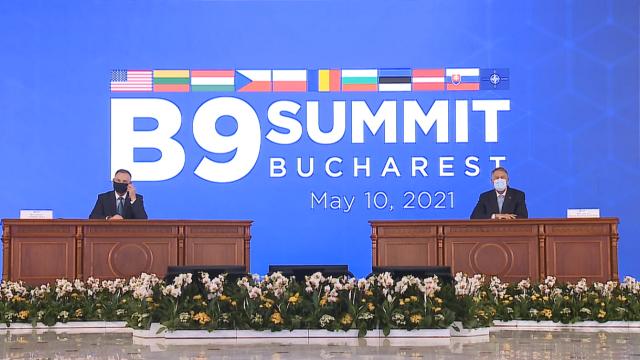 Summit-ul B9. Iohannis: Am fost cu toţii martorii întăririi forţelor Federaţiei Ruse în Ucraina
