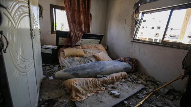 O rachetă israeliană a aterizat în patul unei familii din Fâșia Gaza