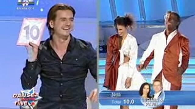 Pavel Bartos si Luciana primesc 10 de la Mihai Petre