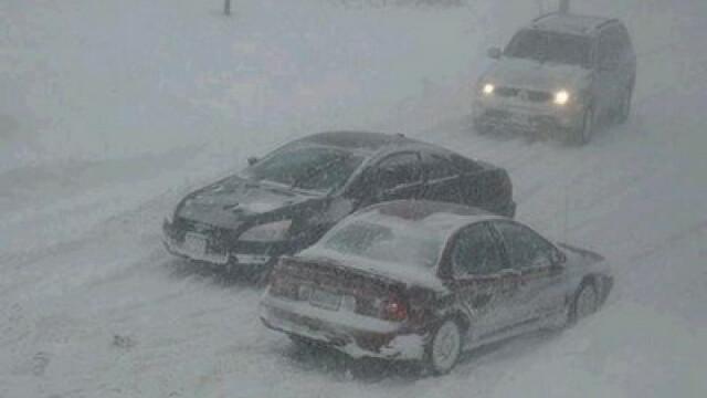 Iarna isi face de cap in nordul tarii! Traficul feroviar afectat