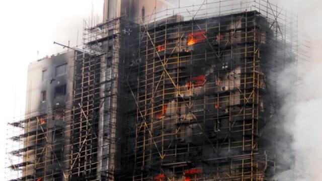 Incendiu in Shanghai