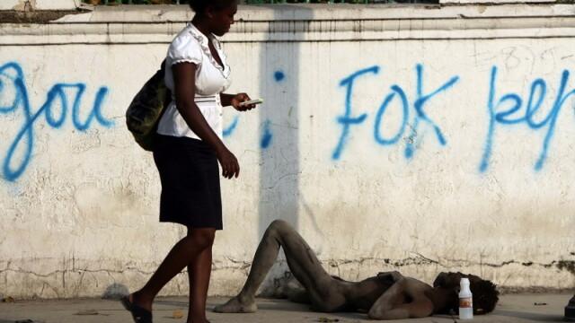 Imaginea mortii in Haiti! Oamenii se sting pe strazi din cauza holerei