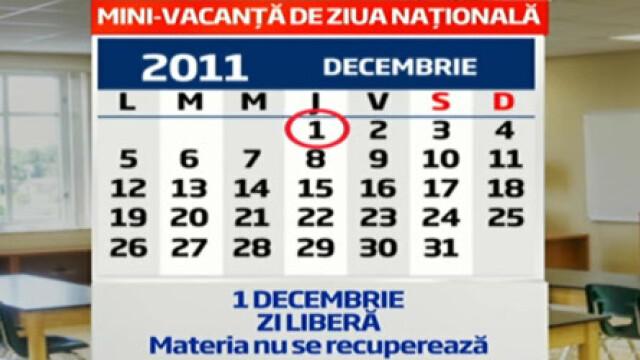 calendar 1 decembrie