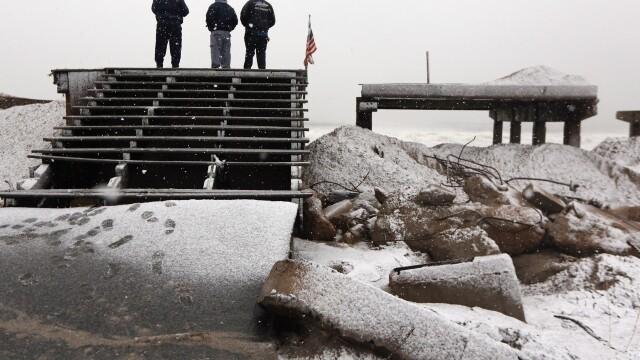 Dupa uraganul Sandy, inca un fenomen extrem loveste New York-ul: furtuna hibernala. Galerie FOTO - Imaginea 3