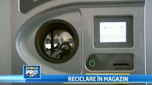 aparat reciclare in magazin