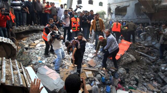 Armistitiul intre Israel si Hamas este in continuare respectat. Bilantul victimelor: 168 de morti - Imaginea 27
