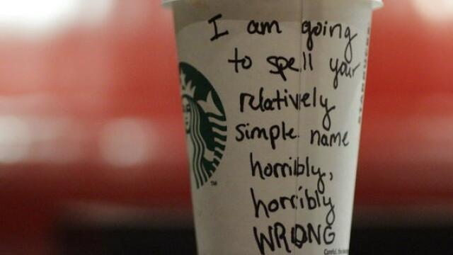Topul celor mai haioase nume scrise gresit pe paharele de la Starbucks - Imaginea 6