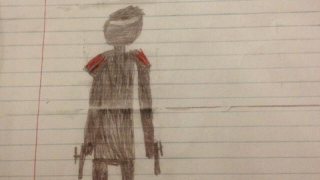 Un elev de 8 ani, amenintat cu exmatricularea, din cauza unor desene facute in caiet - Imaginea 3