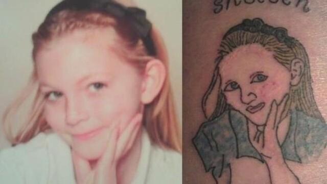 A vrut sa-si tatueze chipul fiicei pe brat, iar rezultatul a facut-o sa planga.