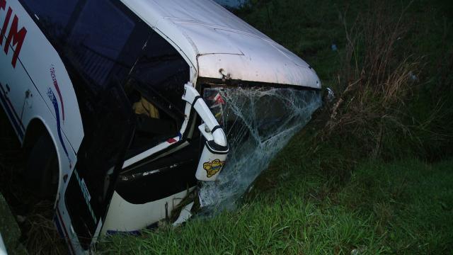 Accident in Timis. Noua persoane sunt ranite dupa ce un autobuz s-a rasturnat intr-un sant - Imaginea 3
