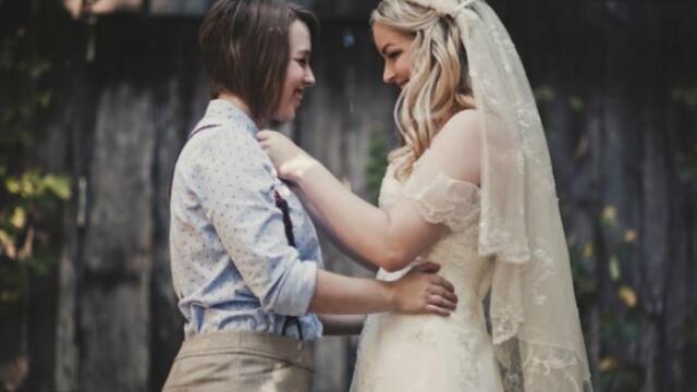 Parintii ei nu au fost de acord cu partenerul ales si nu au venit la nunta. Cum arata mirele. FOTO - Imaginea 5