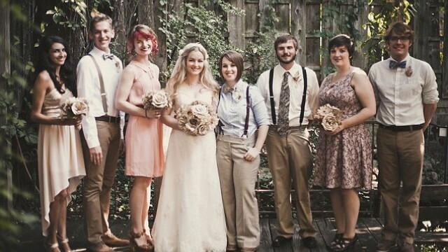 Parintii ei nu au fost de acord cu partenerul ales si nu au venit la nunta. Cum arata mirele. FOTO - Imaginea 9