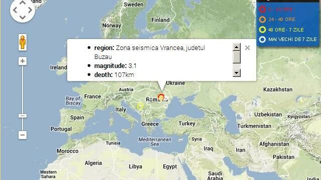 CUTREMURE cu magnitudinea de 3.8 si 3.1 in Vrancea, joi noapte
