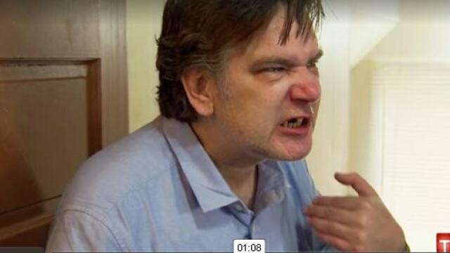 Imaginile stresului post-traumatic, prezentate intr-o emisiune TV. Cum apare acest barbat