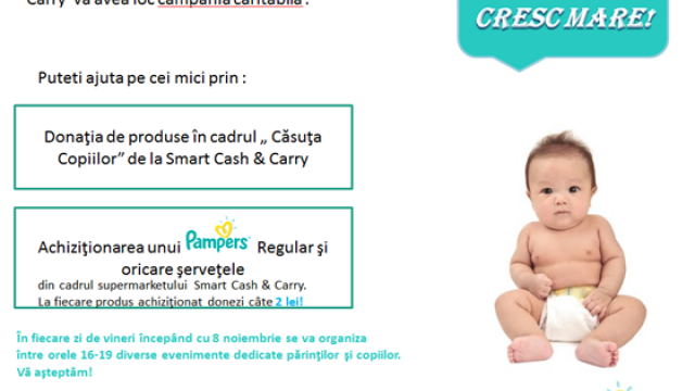 Ajuta-i pe bebelusii de la Spitalul Louis Turcanu! Prin cumpararea unui Pampers, le donezi 2 lei - Imaginea 1