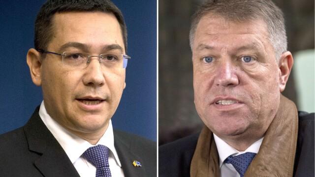 Klaus Iohannis, Victor Ponta