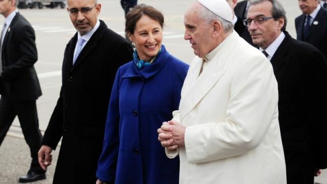 Papa Francisc a ajuns la Strasbourg pentru a vizita institutiile europene