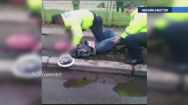 Un sofer din Buzau a sarit la bataie cand politistii i-au cerut actele. Cum s-a terminat incaierarea