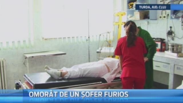 Tragedie absurda la Turda, unde un pieton a fost omorat in bataie de un sofer, dupa ce era sa-l calce cu masina