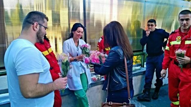medici, flori, colectiv, facebook