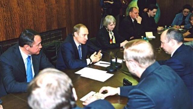 Mihail Lesin si Vladimir Putin