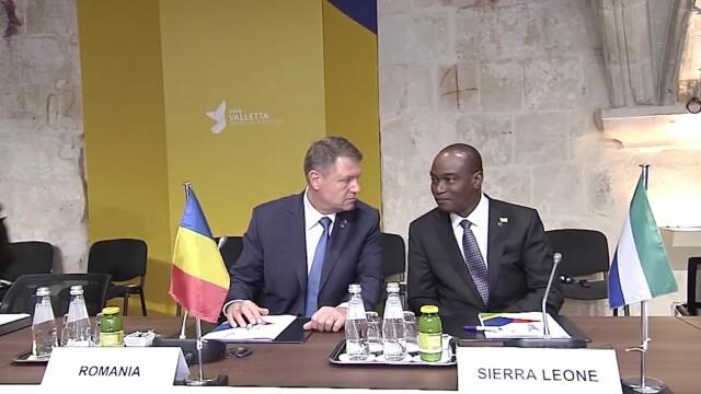 Klaus Iohannis la summitul din Malta