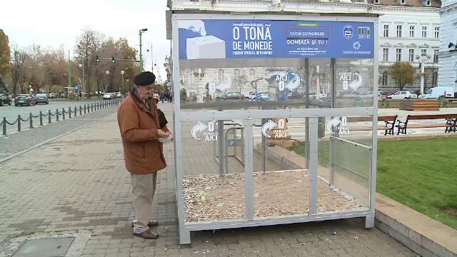 O tona de monede pentru sectia de pediatrie a Spitalului Judetean din Arad. Campania inedita pentru a strange fonduri