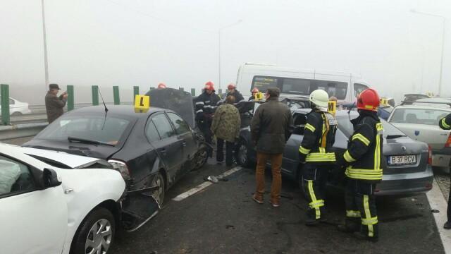 Accident grav pe A2: 4 morti si zeci de raniti. Politie: