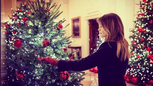 Melania Trump a adus magia Crăciunului la Casa Albă. VIDEO