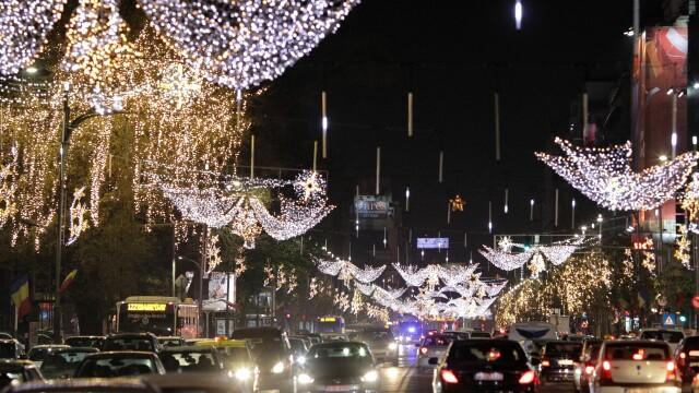 Luminițele de Crăciun vor fi aprinse luni seară în Capitală