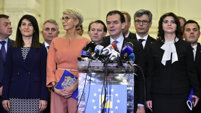 Ceremonia de depunere a jurământului a Guvernului Orban
