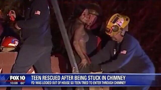 O tânără a rămas blocată în hornul unei case timp de 2 ore. Ce încerca să facă