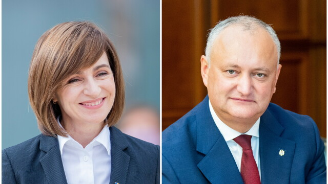 Maia Sandu l-a învins pe Dodon în primul tur al alegerilor prezidențiale din R. Moldova