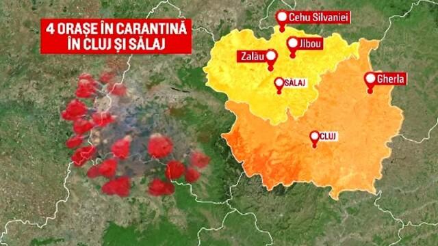 Harta localităților carantinate din România. În ce condiții pot ieși oamenii din case