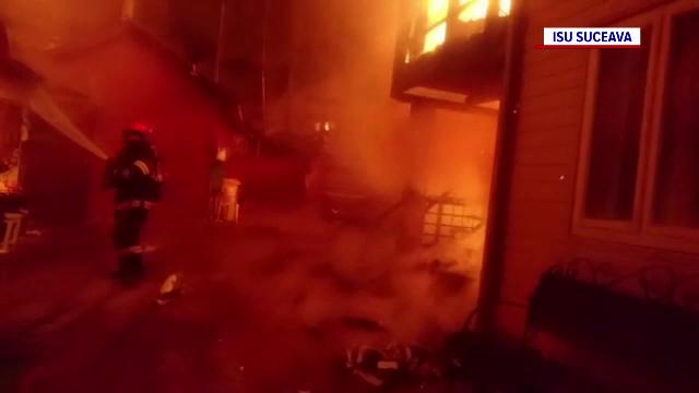 Incendiu într-o casă din Vatra Dornei. Proprietara, imobilizată, nu putea să iasă din locuință