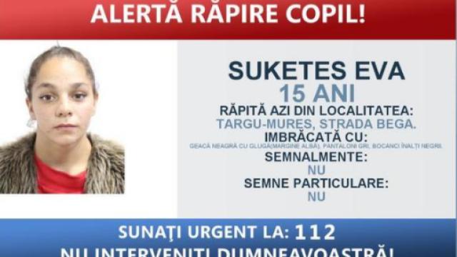 Fată de 15 ani, răpită de pe o stradă din Târgu Mureş şi băgată cu forţa în maşină de persoane necunoscute