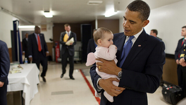 Familia Obama, la primul album foto publicat pe internet! GALERIE FOTO - Imaginea 5