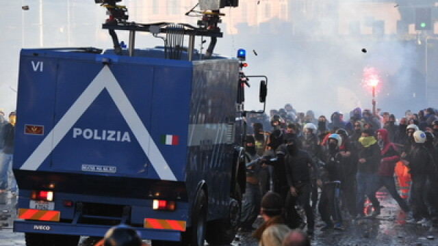 Un roman de 21 de ani se afla printre protestatarii arestati dupa violentele de sambata, de la Roma