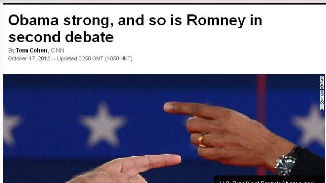 Obama-ofensiv,Romney-evaziv.Cea de-a doua dezbatere pentru Casa Alba,dominata de actualul presedinte - Imaginea 3