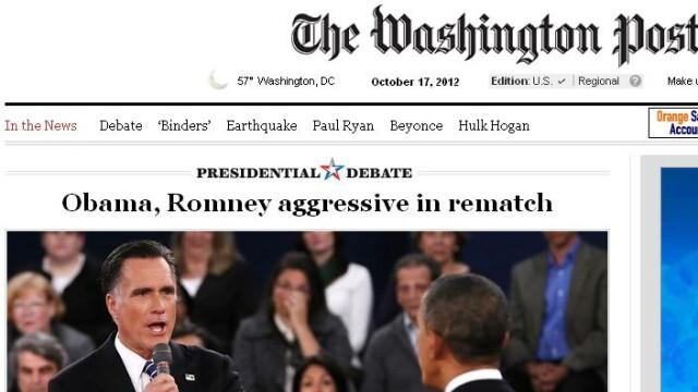 Obama-ofensiv,Romney-evaziv.Cea de-a doua dezbatere pentru Casa Alba,dominata de actualul presedinte - Imaginea 4