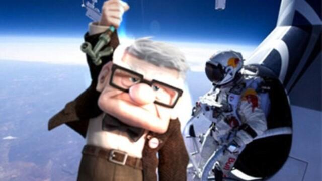 Cu cine s-a intalnit austriacul Felix in zbor dupa ce s-a aruncat din cosmos. Imagini viral