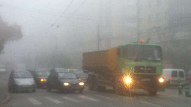 Cod galben de ceata in in judetele Vrancea, Vaslui si Galati pana la ora 11:00