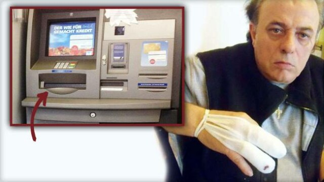 Ce s-a intamplat cu acest barbat care incerca sa scoata bani din ATM: \