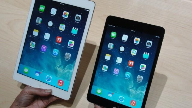 iPad Air (stanga) si iPad Mini 2