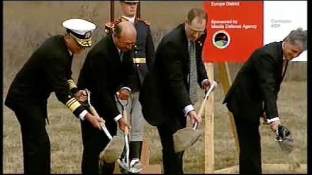 Au inceput, oficial, lucrarile de constructie la scutul american antiracheta de la Deveselu